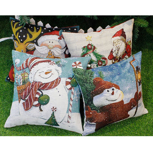 Santa Claus Snowman Cushion Covers 40cm x 40cm