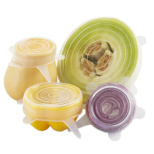 Silicone Saran Food Wrap Lid-bowl Pot