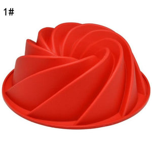 Large Spiral Shaped Bundt Silicone Cake Pan