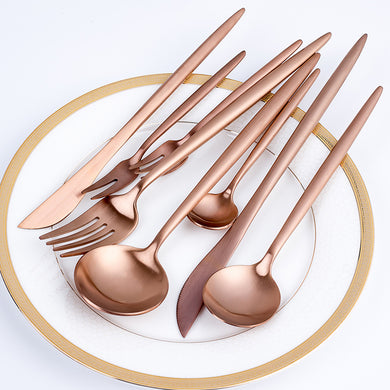 Gold Cutlery Set Wedding Dinnerware Set