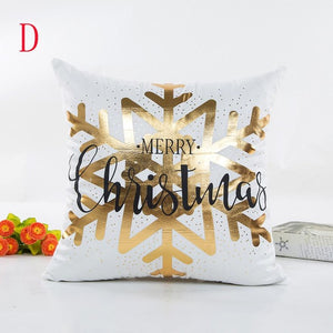 Merry Christmas Letters Square Cushion Covers