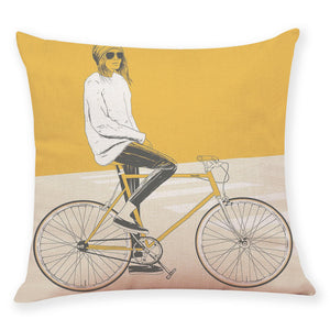 Cushion Cover Yellow Style