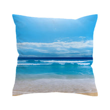 Beach Cushion Cover Vivid Sea Very Soft
