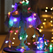 Star Shaped Christmas Tree Decorative String Lights RGB Light for Holiday Wedding Party