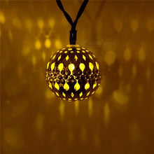Waterproof 10 LED Fairy Light Moroccan String Lights Lamp For Outdoor