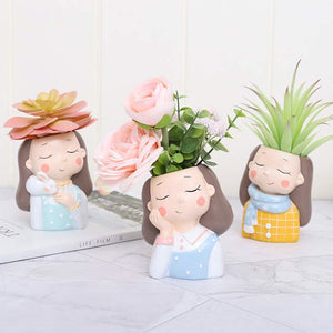 Cozy Ladies Planter Set