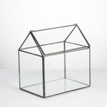 dwelling house metal glass terrarium