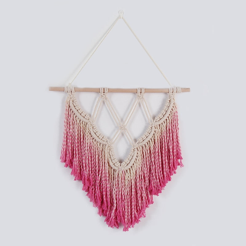 Rose Macrame Wall Hanging