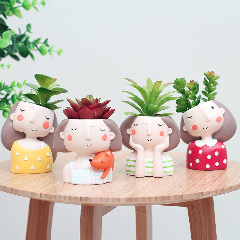 dream girl ceramic planter set