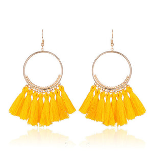 Fringed Tassel Earrings