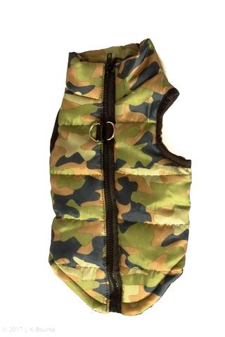 Camo Body Warmer Dog Coat - Woof Suits