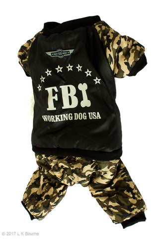 FBI Dog Jumpsuit - Woof Suits