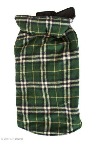 Green Lumberjack Water Resistant Dog Coat - Woof Suits