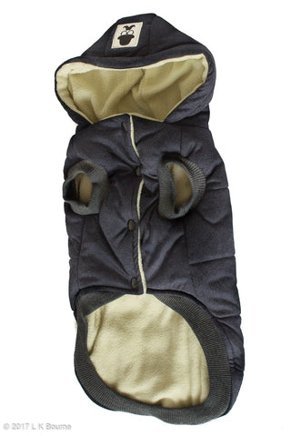 Navy Winter Dog Jacket - Woof Suits