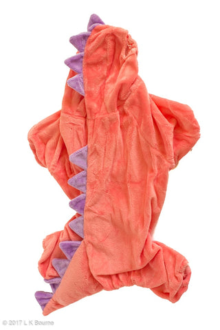 Pink Dinosaur Dog Costume - Woof Suits