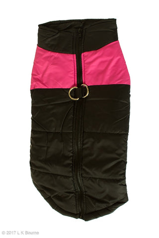 Pink One Stripe Body Warmer Dog Coat - Woof Suits