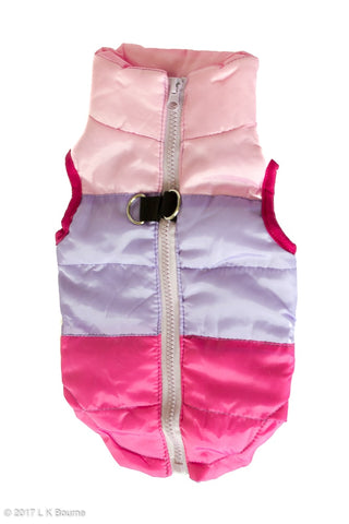 Pink/Purple Body Warmer Dog Coat - Woof Suits