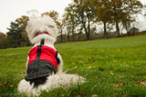 Red/Black Body Warmer Dog Coat - Woof Suits