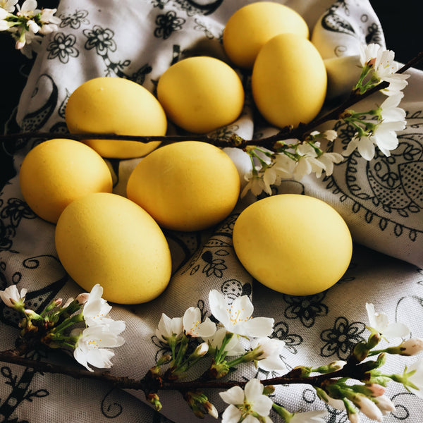 Recipe: Saffron-dyed Eggs