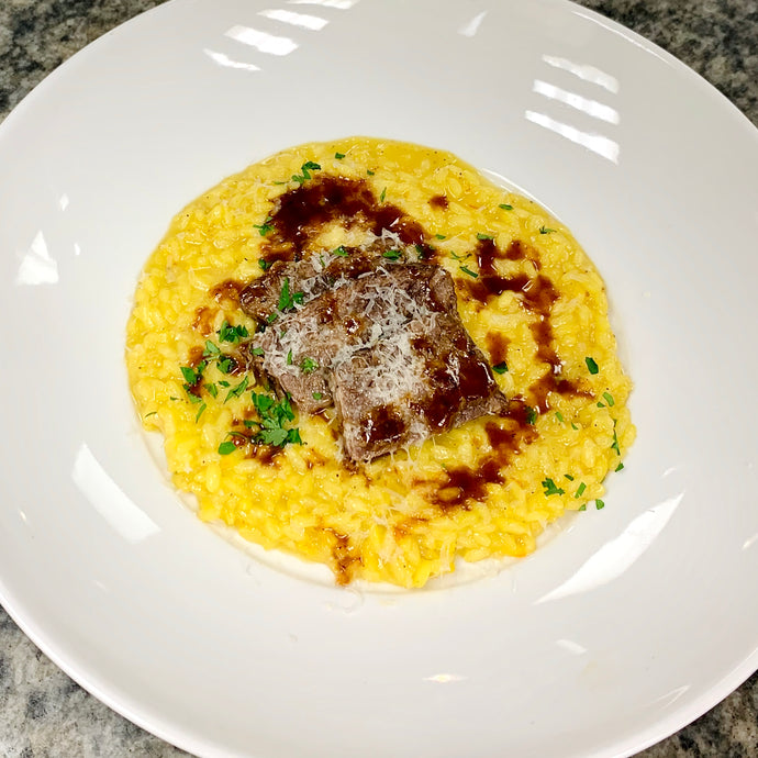 Saffron Risotto with Braised Short Ribs