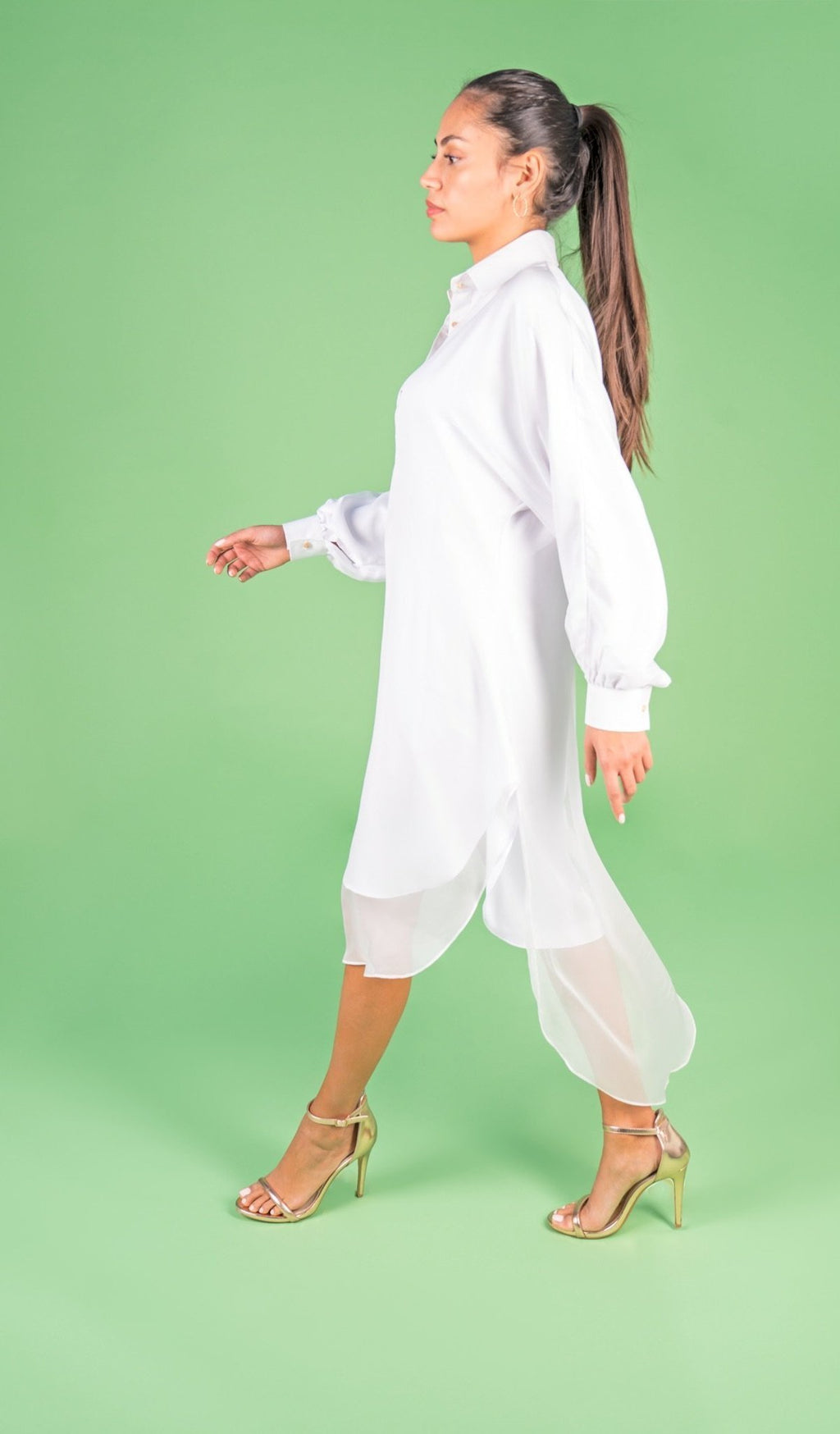 NAOMI White Shirt Dress