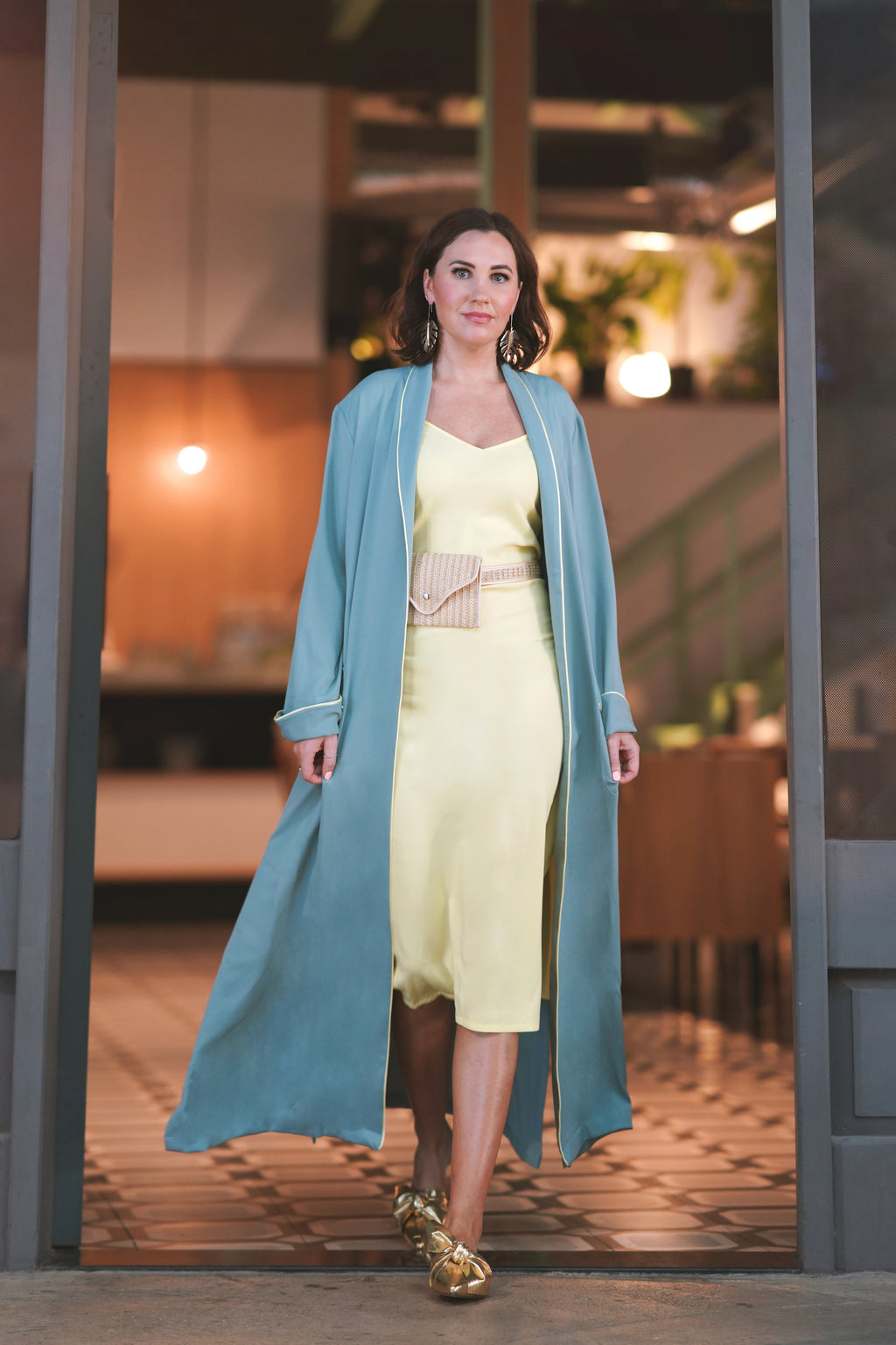 NOOR Green Maxi Jacket