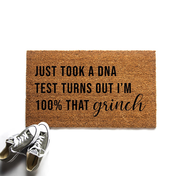 100% That Grinch Doormat
