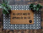 All Guests Must Be Approved by the Cat Doormat - Urban Owl