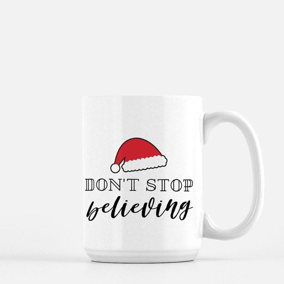 Don't Stop Believing Santa Coffee Mug - Urban Owl Co