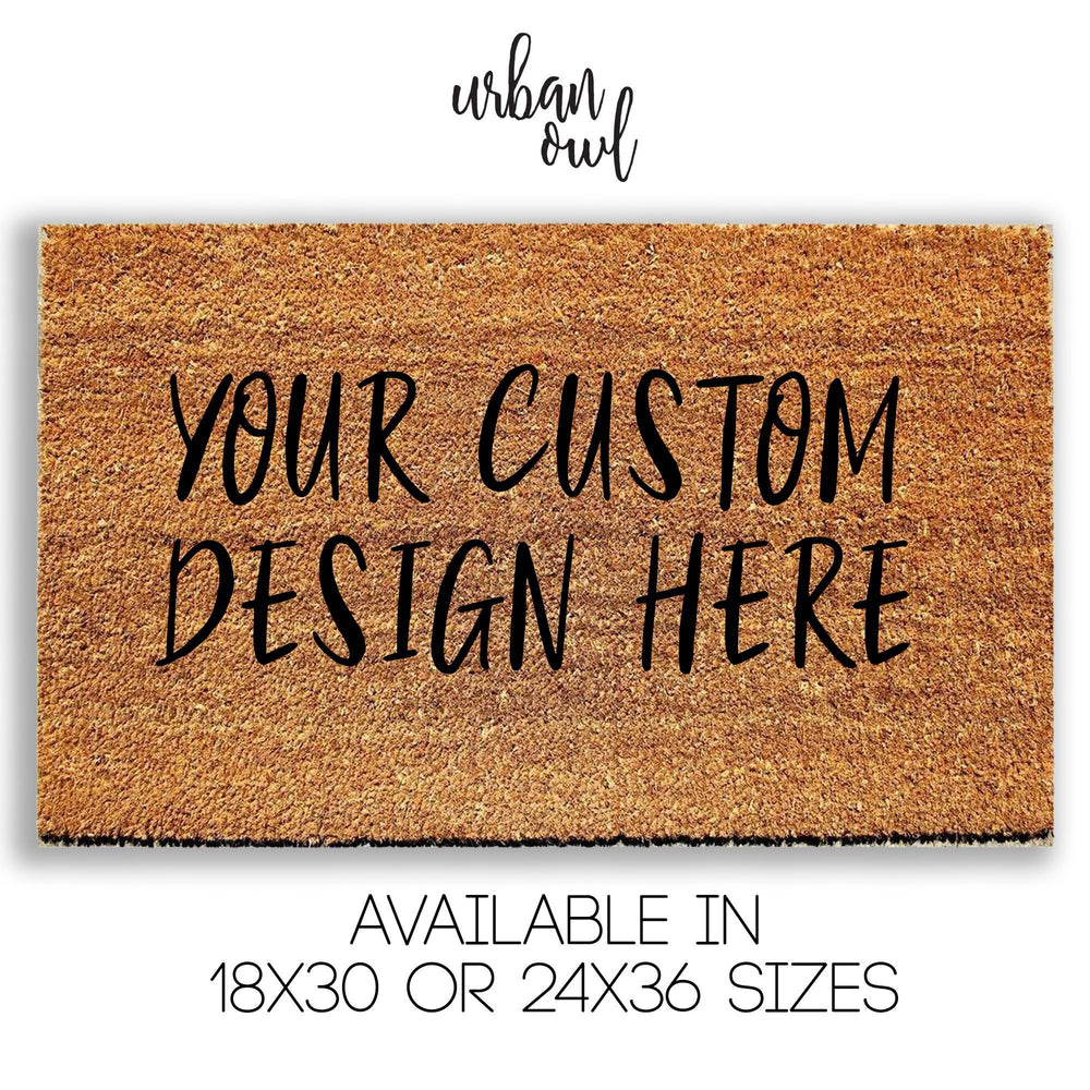 Create Your Own Custom Doormat - Urban Owl
