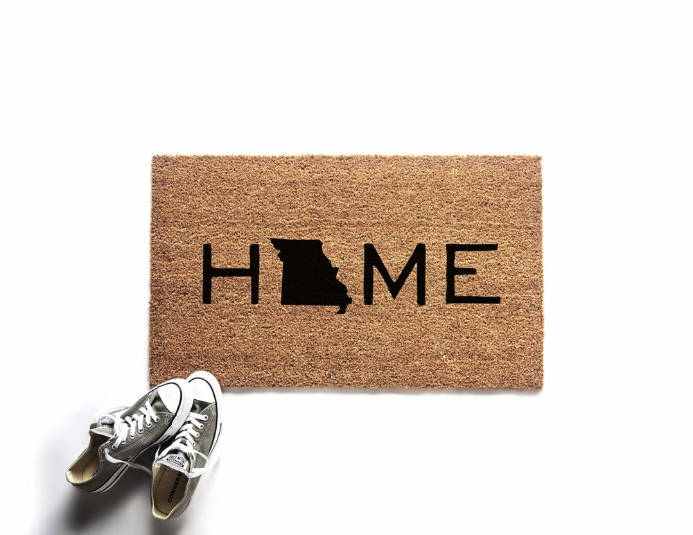 Custom Home State Doormat | Home State Welcome Mat | Outdoor Rug | Housewarming Gift | Urban Owl |