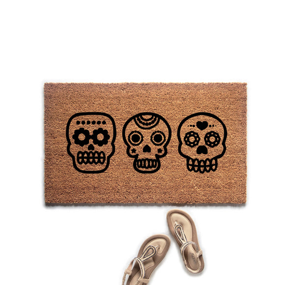 Day of the Dead Doormat - Urban Owl Co