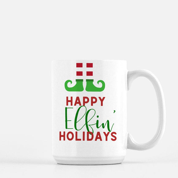 Happy Elfin' Holidays Coffee Mug - Urban Owl Co