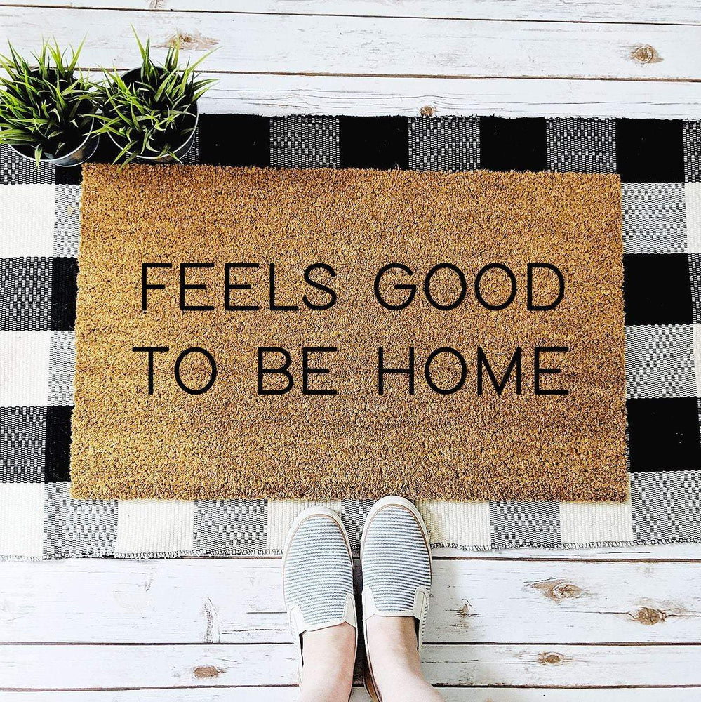 Feels Good to Be Home Minimalist Doormat, Minimalist Decor, Housewarming Gift, Custom Doormat, Personalized Gift