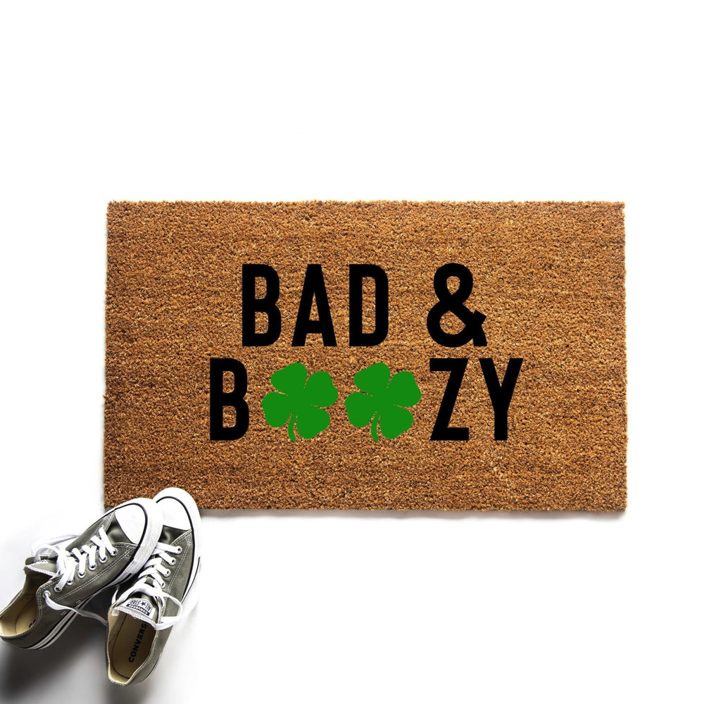 Funny Bad and Boozy St. Patrick's Day Doormat - Urban Owl