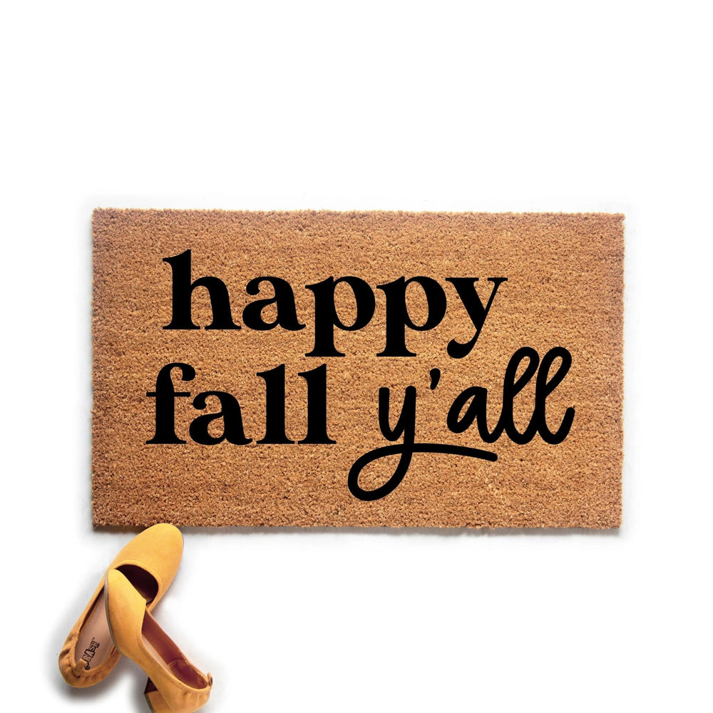 Happy Fall Ya'll Doormat - Urban Owl