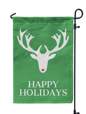 Happy Holidays Garden Flag - Urban Owl Co