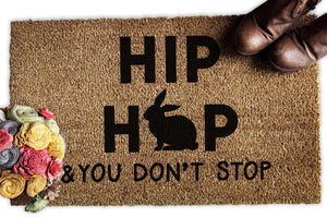 Hip Hop and You Don't Stop Easter Doormat - Urban Owl Co