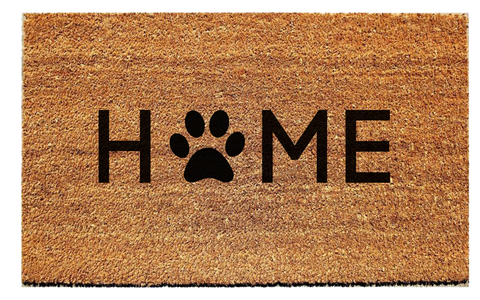 Home Paw Print Doormat - Urban Owl Co