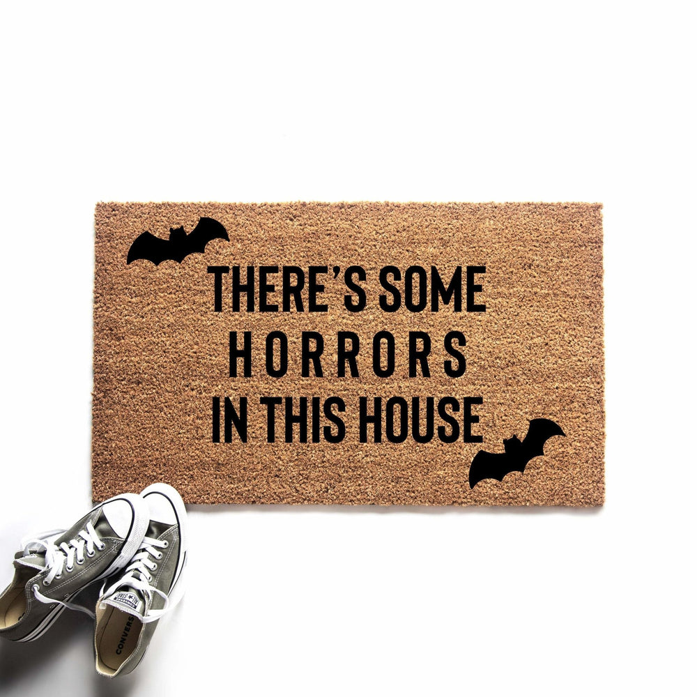 Horrors in This House Halloween Doormat - Urban Owl