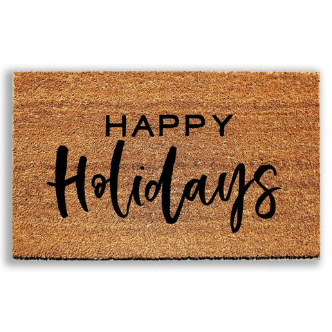 Happy Holidays Doormat - Urban Owl Co