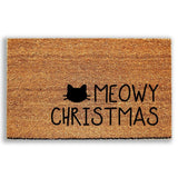 Meowy Christmas Doormat - Urban Owl Co