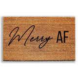 Merry AF Holiday Doormat - Urban Owl Co