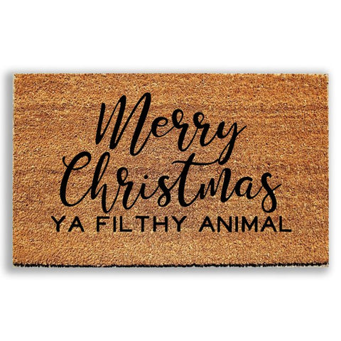 Merry Christmas Ya Filthy Animal Doormat - Urban Owl Co