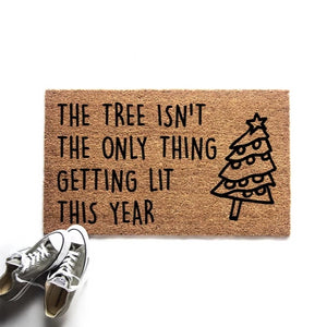 The Tree Isn't The Only Thing Getting Lit Doormat - Urban Owl Co