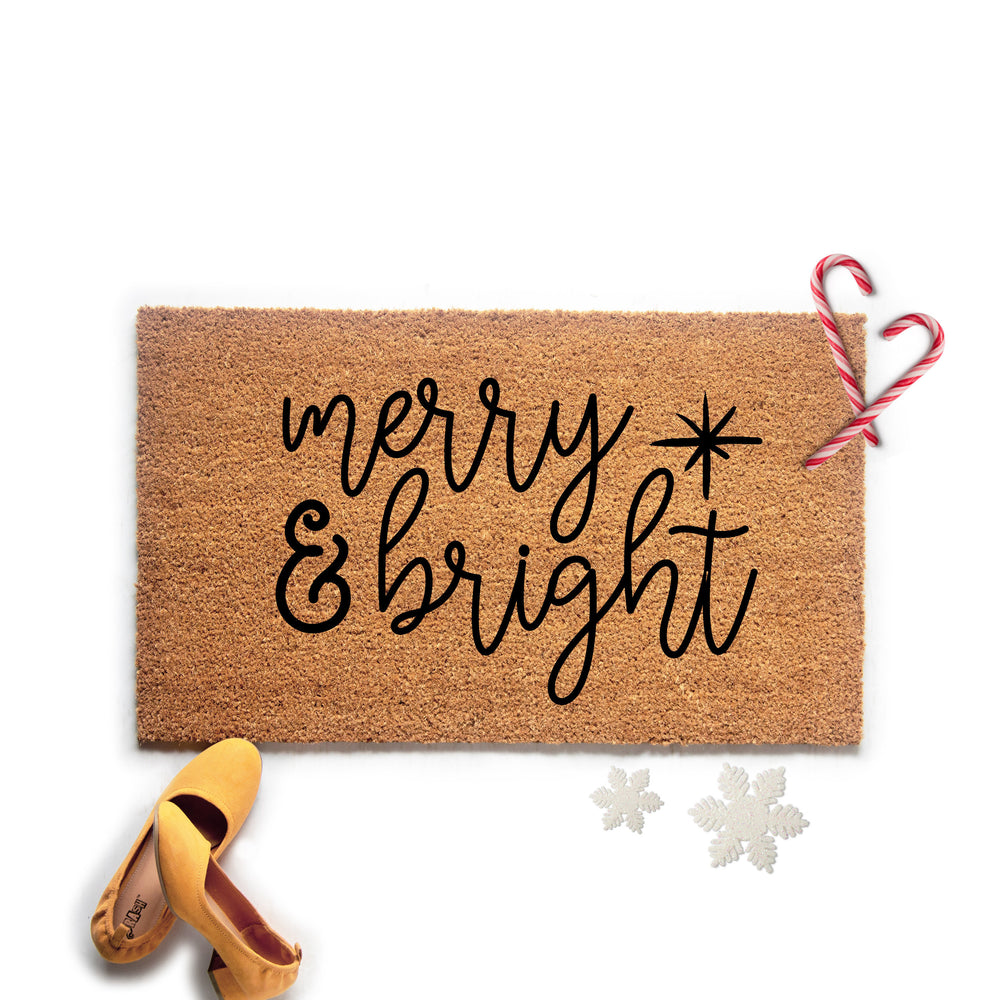 Merry and Bright Christmas Doormat