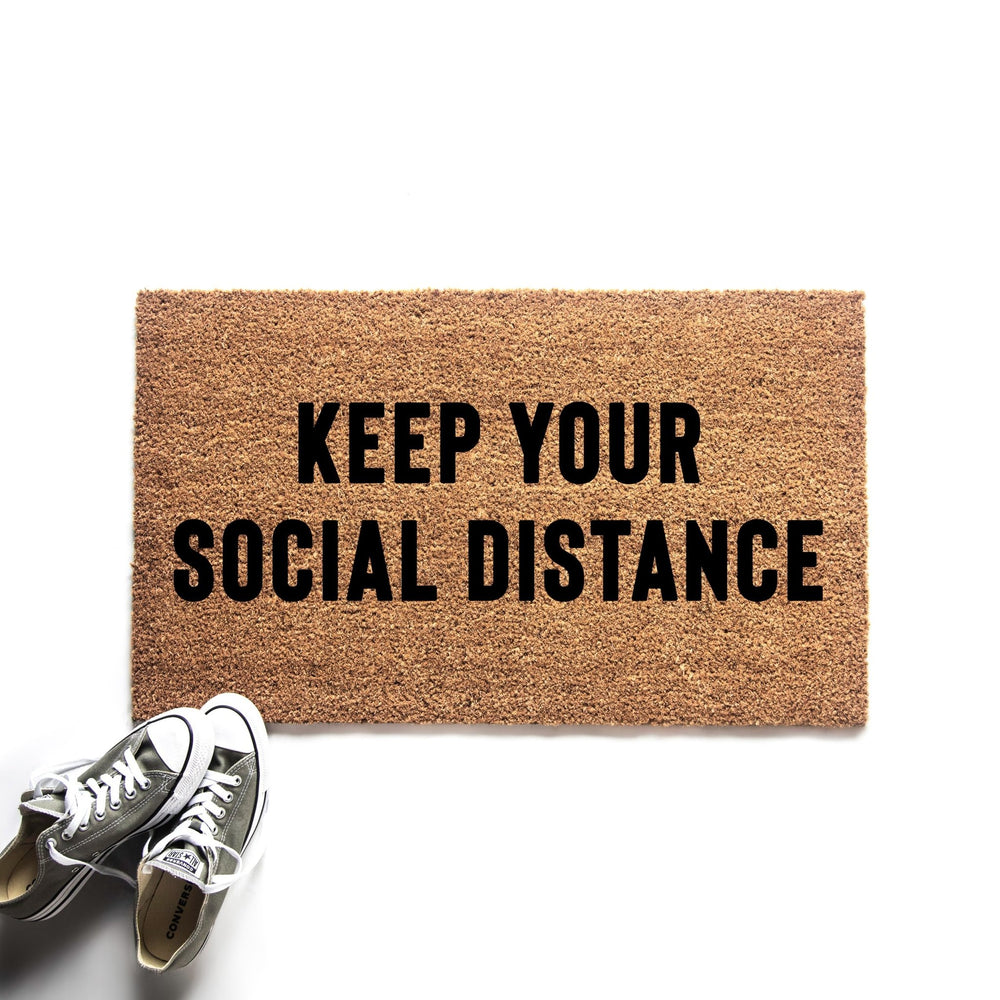 Keep Your Social Distance Doormat - Urban Owl
