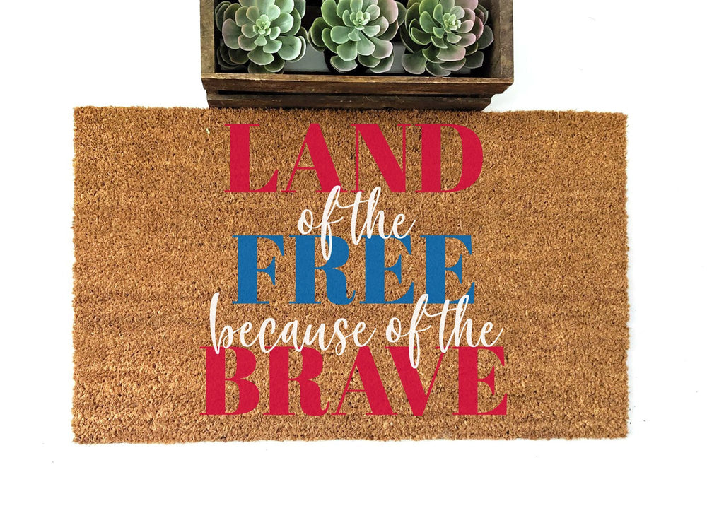 Land of the Free Home of the Brave Doormat - Urban Owl