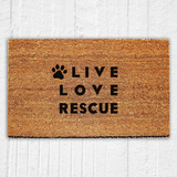 Live Love Rescue Doormat - Urban Owl Co