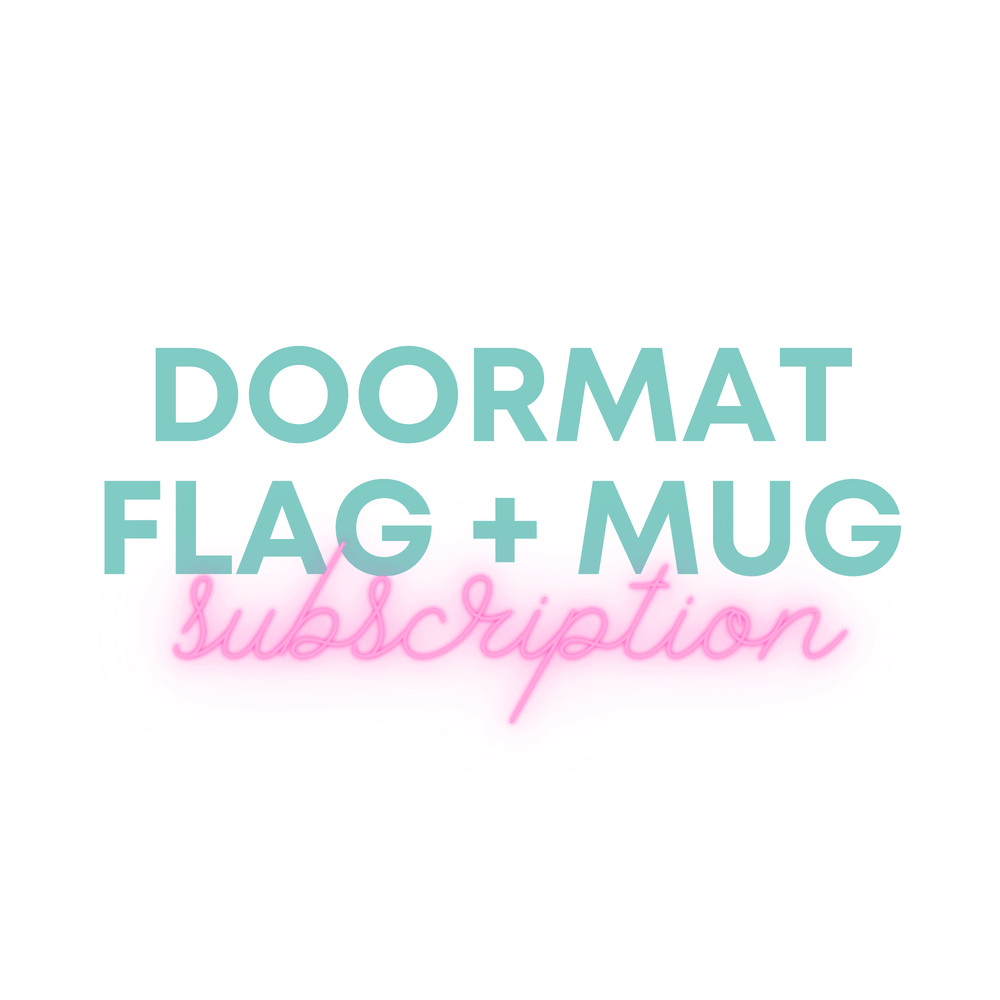 Monthly Doormat Flag + Mug Subscription - Urban Owl